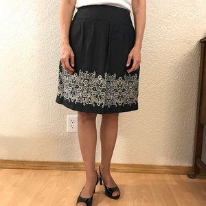 Lightweight Cotton Pleated Polka Dot Skirt